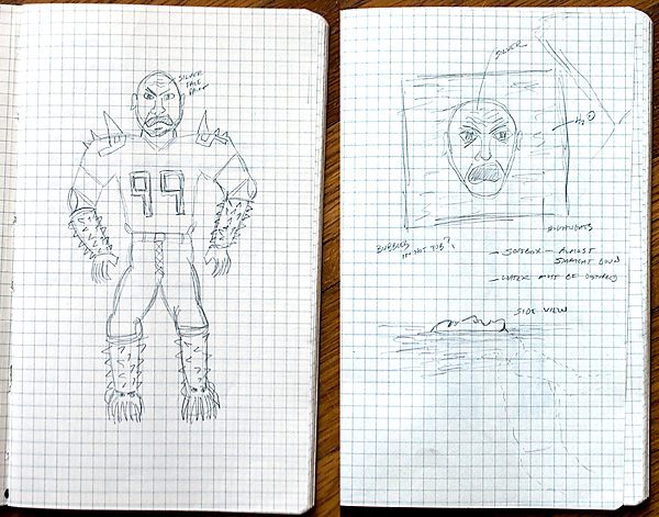 Sketches from my Moleskine notebook