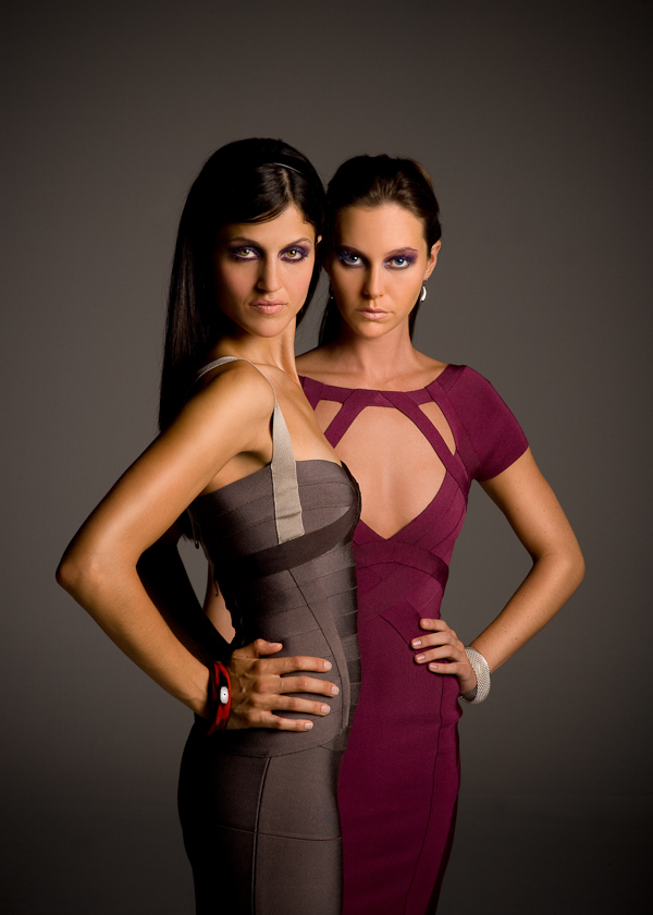 Herve Leger bandage dresses (Photek Softlighter).