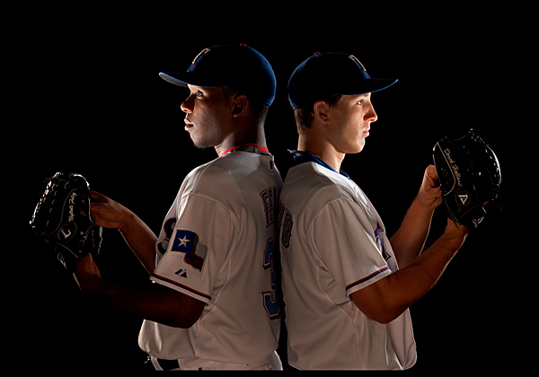 Neftali Feliz and Derek Holland for Sports Illustrated.
