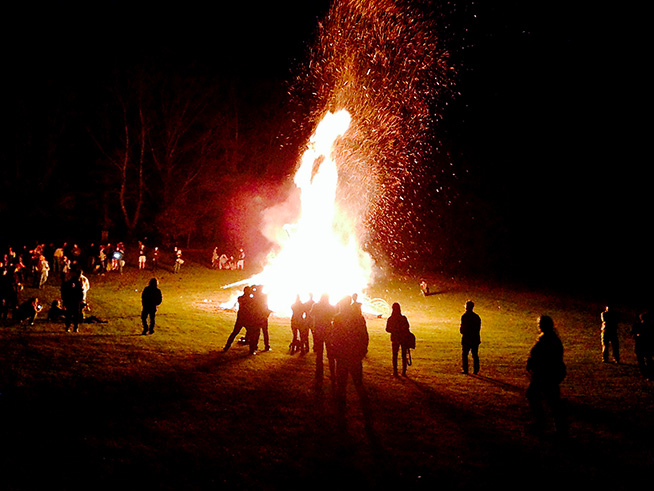 The fantastic bonfire Sunday night.
