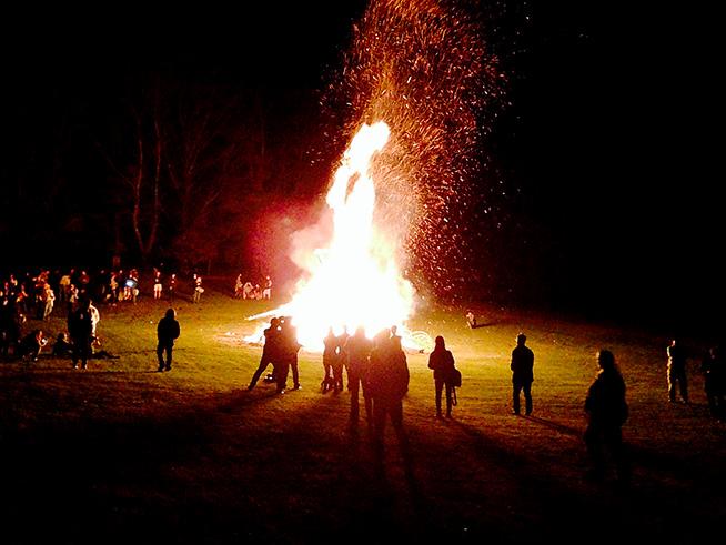 The fantastic bonfire Sunday night.