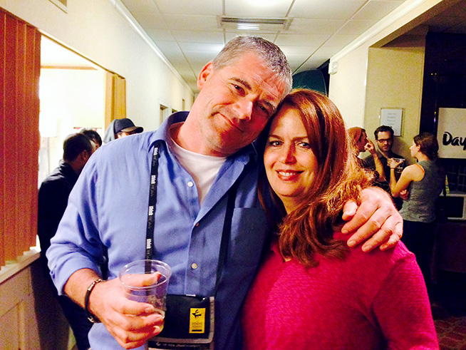 Former ASMP president Shawn Henry with SF State classmate and Pulitzer winner Mary Calvert.