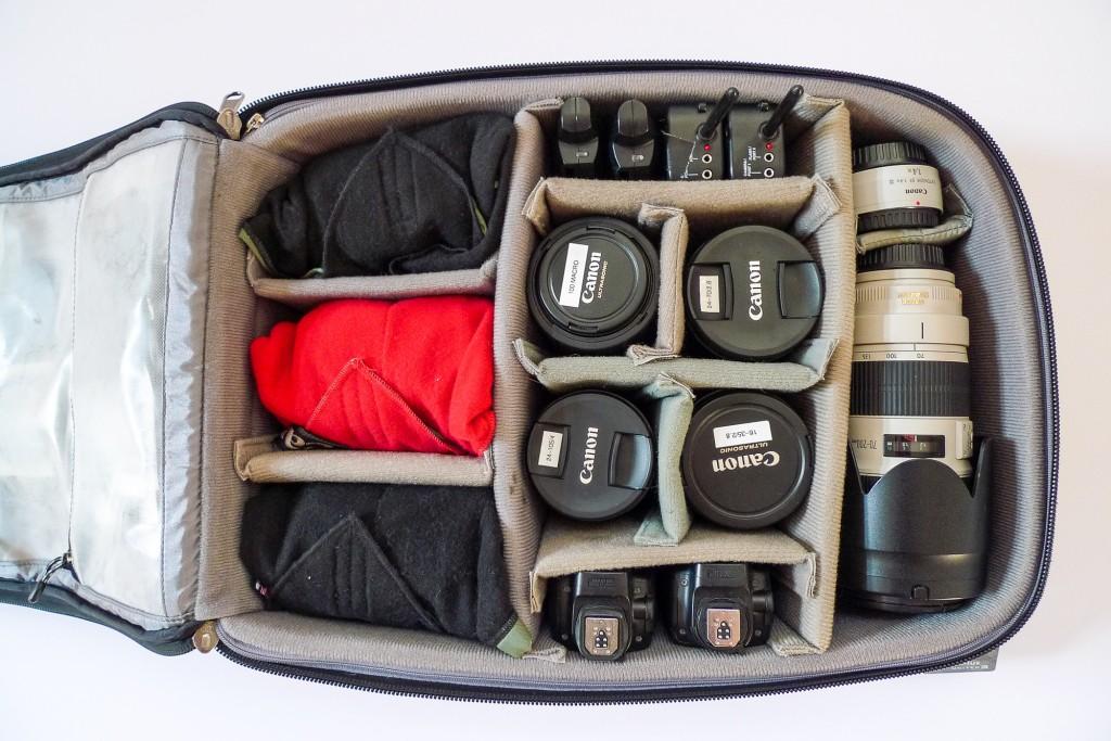 Commercial Photographer Robert Seale's Photo Bag