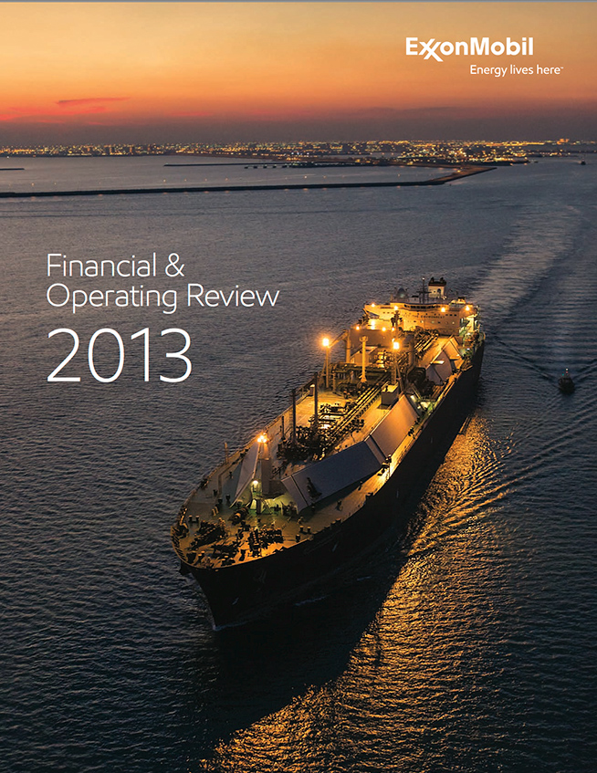 The cover of the ExxonMobil Annual Report, taken in Qatar by Houston photographer Robert Seale.