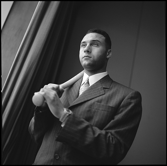 One of my favorite portraits of Jeter - taken with simple window light during 2002.