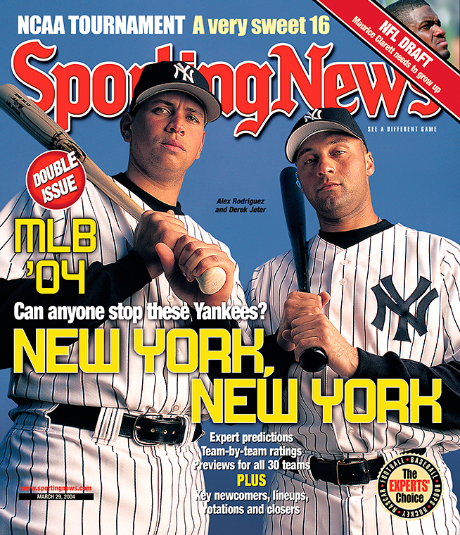 Arod and Jeter Sporting News cover, 2004.