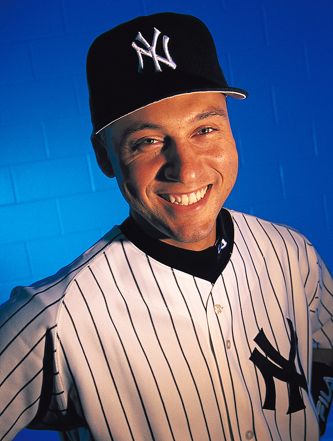 A happy Jeter probably laughing at something stupid I said during a 1997 photo shoot in the Yankees Florida clubhouse.