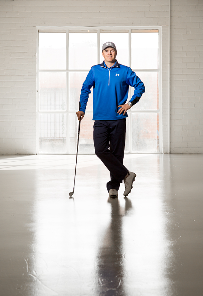 Jordan Spieth during a studio shoot in Dallas.