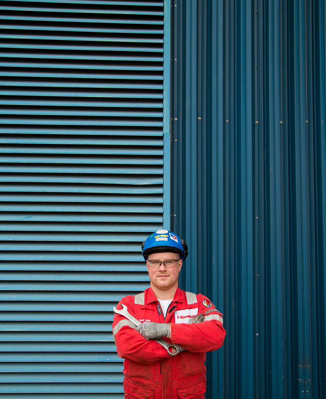 Portrait of a mechanic in Scotland.